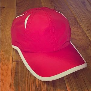 Vintage athletic works red and white hat